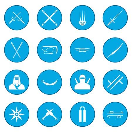 Ninja icon blue 写真素材