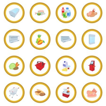 Supermarket icon circle