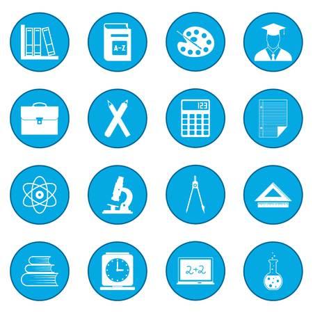 Education icon blue
