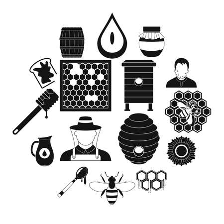 Apiary black simple icon for web and mobile devices