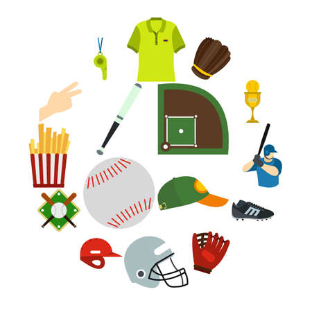 American football flat icons for web and mobile devices