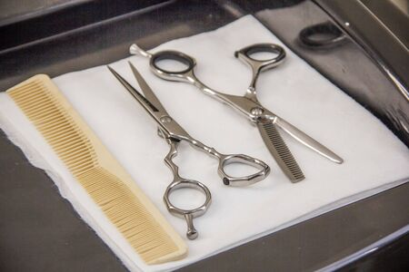 hairdresser tools Scissors for haircuts