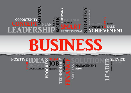 smart goals: Business concept related words in tag cloud isolated with different association business terms. The effect of torn paper. Vector