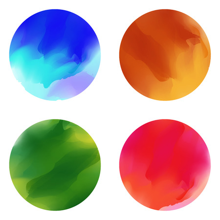 broad: Colorful paint brush stain smears, oil, watercolor, acrylic texture. Set of grunge broad brush strokes. Abstract make up paint brush strokes. Vector Illustration