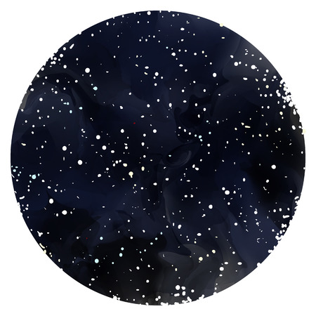 Starry night background.Vector background. Watercolor starry night sky with Milky Way. Stars, sky, night. Ilustrace