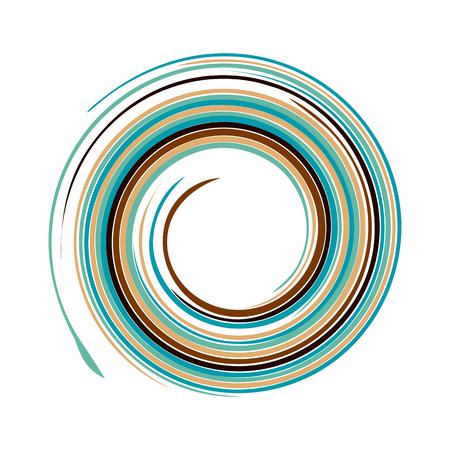 water vortex: Vector background of bright varicoloured swirling water texture vortex