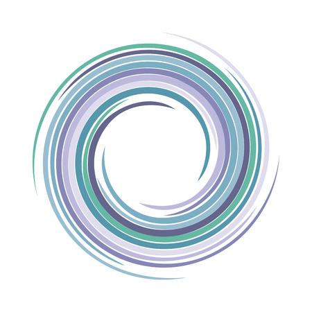 curl whirlpool: Vector background of bright varicoloured swirling water texture vortex