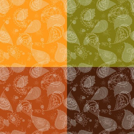 cucumbers: Seamless oriental ornamental pattern picture with print cucumbers. Vector