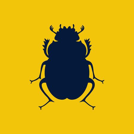 Scarab beetle, egyptian symbol, logo template. Lady bug logo. Vector