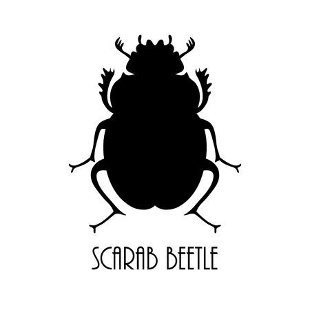 lady beetle: Black beetle, egyptian symbol, logo template. Lady bug logo. Vector