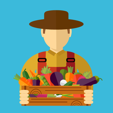 Country farmer who keeps fresh vegetables. icon