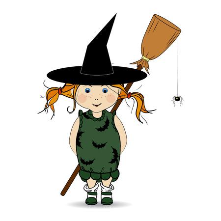 Cartoon Illustration Von Einem Happy Halloween. Kinder. Süßes Oder ...