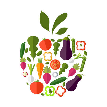 Vector healthy organic food labels for restaurants, cafe. Concept of healthy lifestyle, weight loss