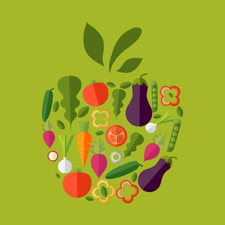 detox: Vector healthy organic food labels for restaurants, cafe. Concept of healthy lifestyle, weight loss