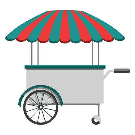 ベクトル食品メニュー チラシ。フラット スタイル。食品トラック祭りメニュー食品パンフレット。  イラスト・ベクター素材