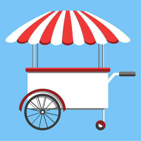 candy floss: Vector food menu flyer. Flat style. Food truck festival, menu food brochure.