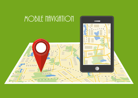 paper pin: Map. The concept of navigation. Delivery. Vector illustration. Illustration