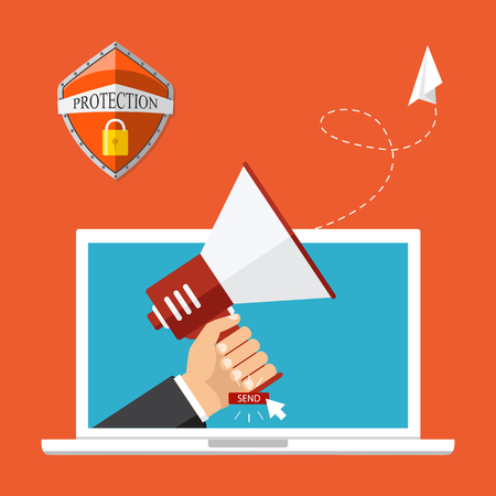 Vector illustration, flat style. Email marketing concept design. Illustration