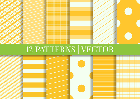 swatches: Pattern tile swatches included. Vector patterns. Set of fabric textures.