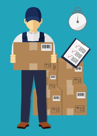 Delivery man concept. Banco de Imagens - 88886813
