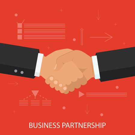 Business partnership illustration.