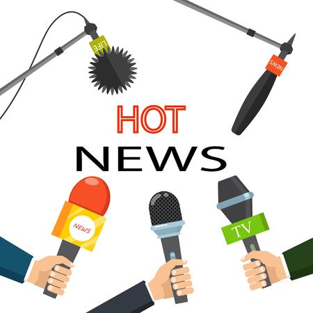 Hot news media concept