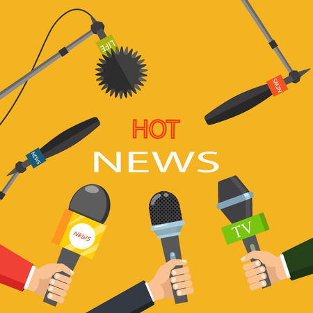 Hot news mass media concept Ilustrace