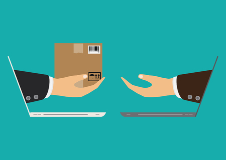 Hand and parcel Delivery concept. Stok Fotoğraf - 94746254