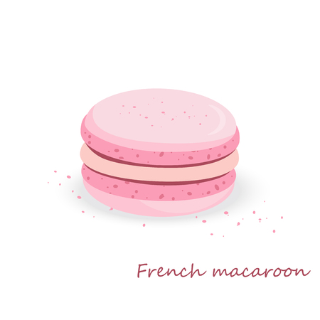Bakery Vector illustration. Sweets, macaroons of different taste.