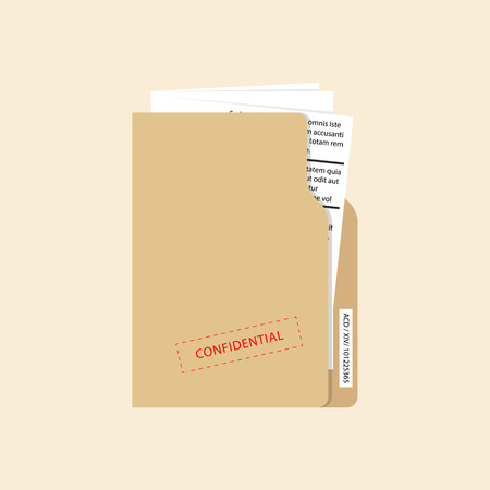 Confidential and top secret document concept. Vector Ilustração