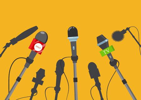 Hot news, mass media concept. Vector illustration