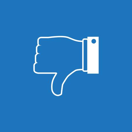 Thumb down icon. Like and dislike concept. Vector illustration.