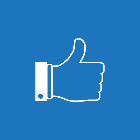 Thumb up  icon. Like and dislike concept. Vector illustration.