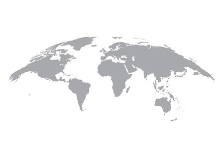 Mapa świata na białym tle. Ziemia, glob ikona. Wektor Ilustracje wektorowe