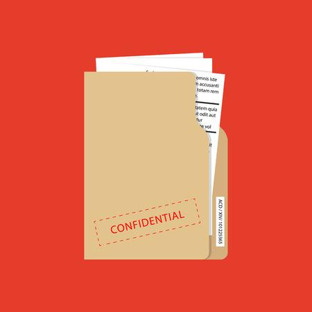 Vector confidential and top secret document concept.