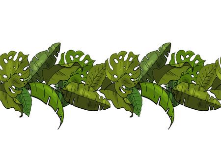 Vector. Seamless pattern brush floral. Illustration
