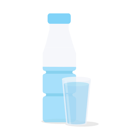 Glass of water. Isolated icon. Vector illustration