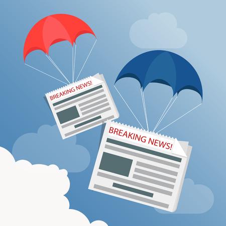 Breaking news live concept. Vector illustration.