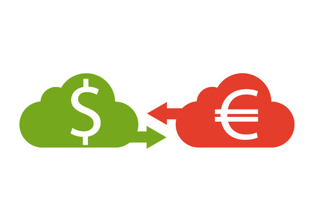 Money currency convert,  icon. Euro and dollar currency. Vector