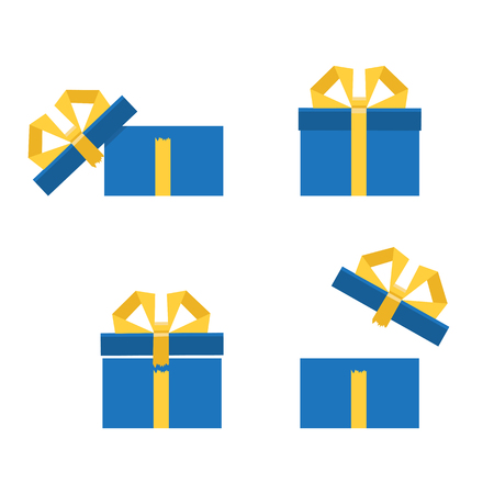Opened gift box, surprise, birthday, holiday concept. Vector