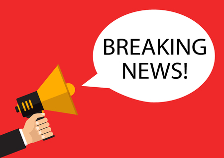 Breaking news live concept. Vector illustration.