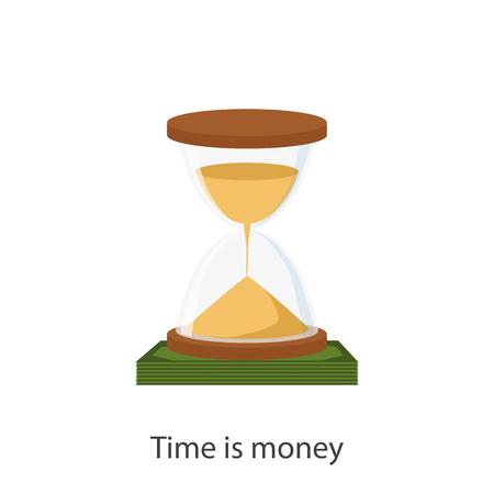 Tijd is geld concept. Financiële planning, deadline en tijdbeheer. Vector illustratie Vector Illustratie