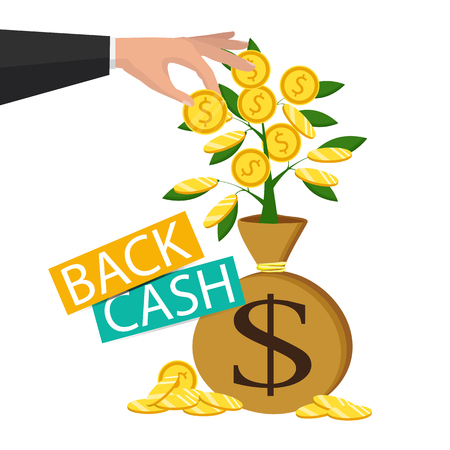 Cash back icon isolated on background. Money refund label, concept. Vector
