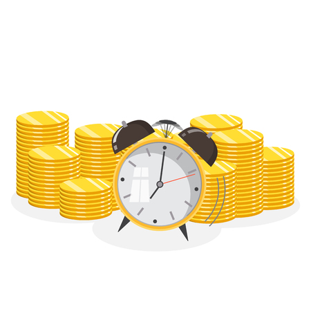 Time is money concept. Financial planning, deadline and time management. Vector illustration Stock Vector - 105866048