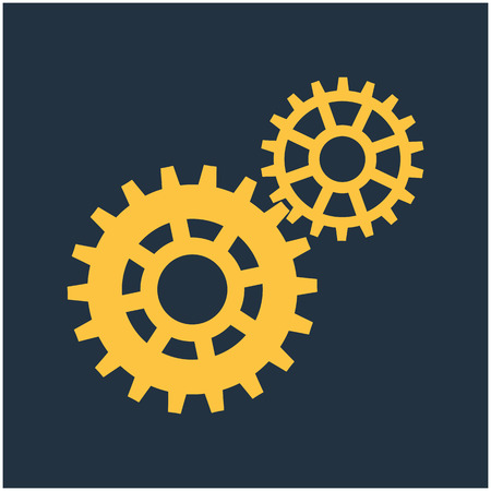 Gears, trundles and cogwheels, machine mechanism. Vector background