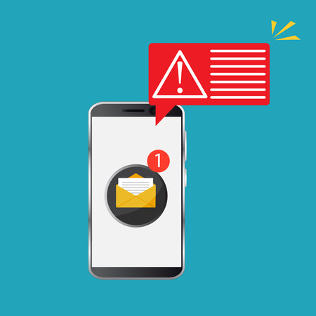 Error message concept. Alert, attention notification. Important reminder. Vector illustration