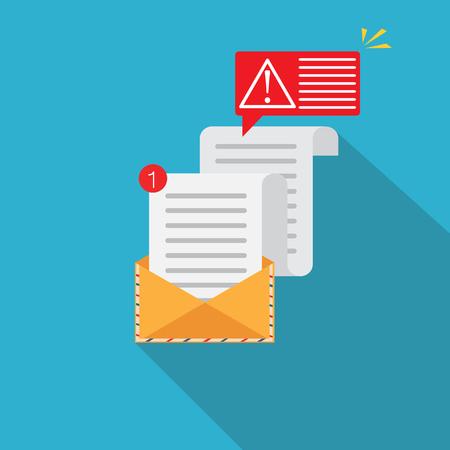 Error message concept. Alert, attention notification. Important reminder. Vector illustration