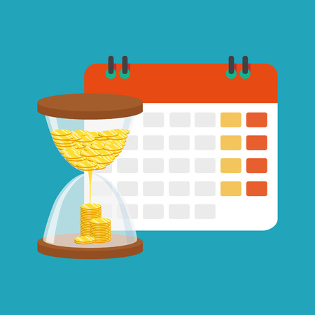 Financial calendar and planning concept. Vector illustration design Ilustrace