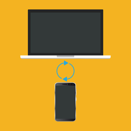 Synchronize device connection icon. Vector illustration Ilustrace