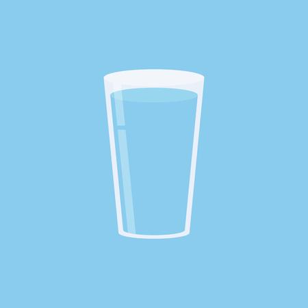 Bicchiere d'acqua. Icona isolata. Illustrazione vettoriale